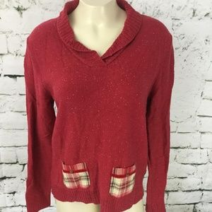 Hanna Andersson Women's Sz M Sweater Red Pull-Over